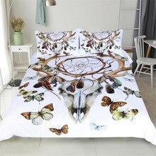 Juego de cama CAMMITEVER con mariposas atrapasueños tamaño King, ropa de cama Bohemia con estampado de lujo, funda nórdica universo 3d