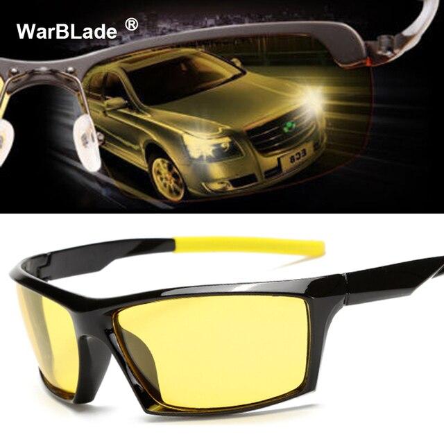 45724683027 Night Vision Sunglasses Men Brand Designer Fashion Polarized Driving  Enhanced Light anti-glare Glasses HD Pilot Goggles