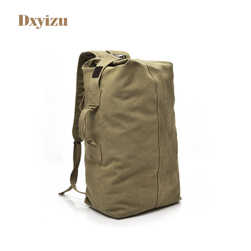 European and American Style High-Capacity Canvas Travel Bags Vertical Square Multifunction Backpack Notebook Computer School Bag