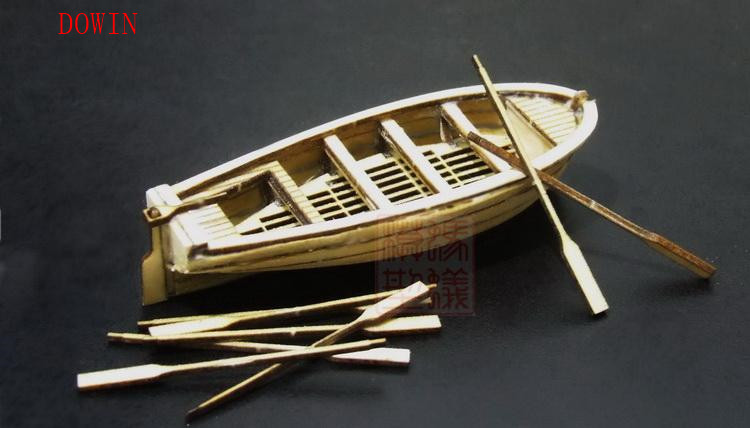Dowin MINI 1:100 scale lifeboat assembly model kits wooden Diy ship model building kits ...