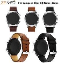 Ремешок кожаный для samsung galaxy watch 46 мм удобный браслет