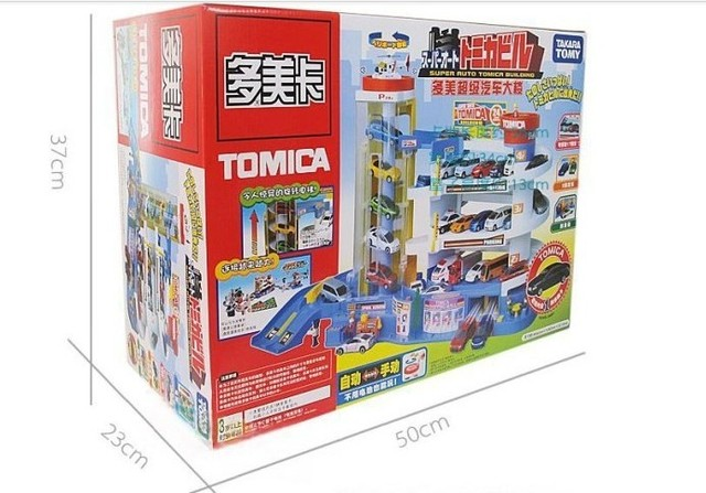 100% brand TOMY TOMICA Super building car parking toy tomica auto construction of parking lots track car Railroad Toy for boys