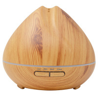 2017 Original 400ml Wood Grain Ultrasonic Humidifier Aroma Essential Oil Ultrasonic Air Humidifier With LED Lights