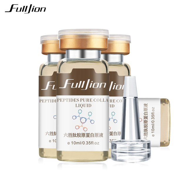 Fulljion Six Peptides Pure Collagen Protein Liquid Hyaluronic Acid Anti-Wrinkle Anti Aging Face Lift Serum Moisturizer Skin Care