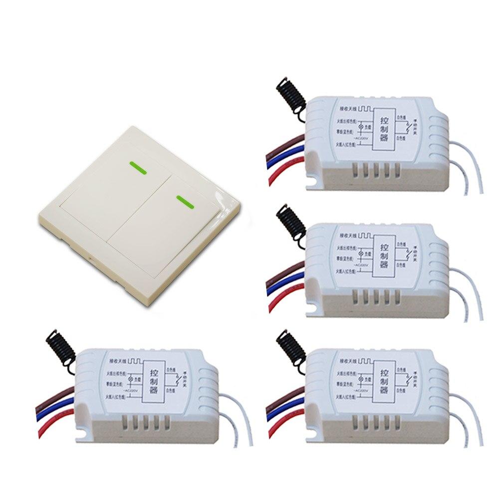 AC 220V Wireless Remote Control Switch RF Wireless Radio Switch Manual Switch Receiver Wall Transmitter 315Mhz/433.92Mhz ac 220v rf wireless remote control switch 2 button wall transmitter receiver