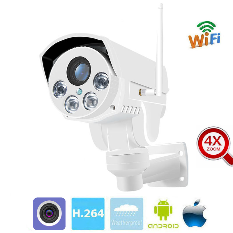 MSeeAD 960P outdoor IP Camera 4X Zoom WiFi Security Camera PTZ CCTV Cam Motion Detection Waterproof Onvif Built-in 32G camera 402 189 139mm gray white outdoor waterproof cctv camera housing aluminum abs casing for cctv security zoom box body camera