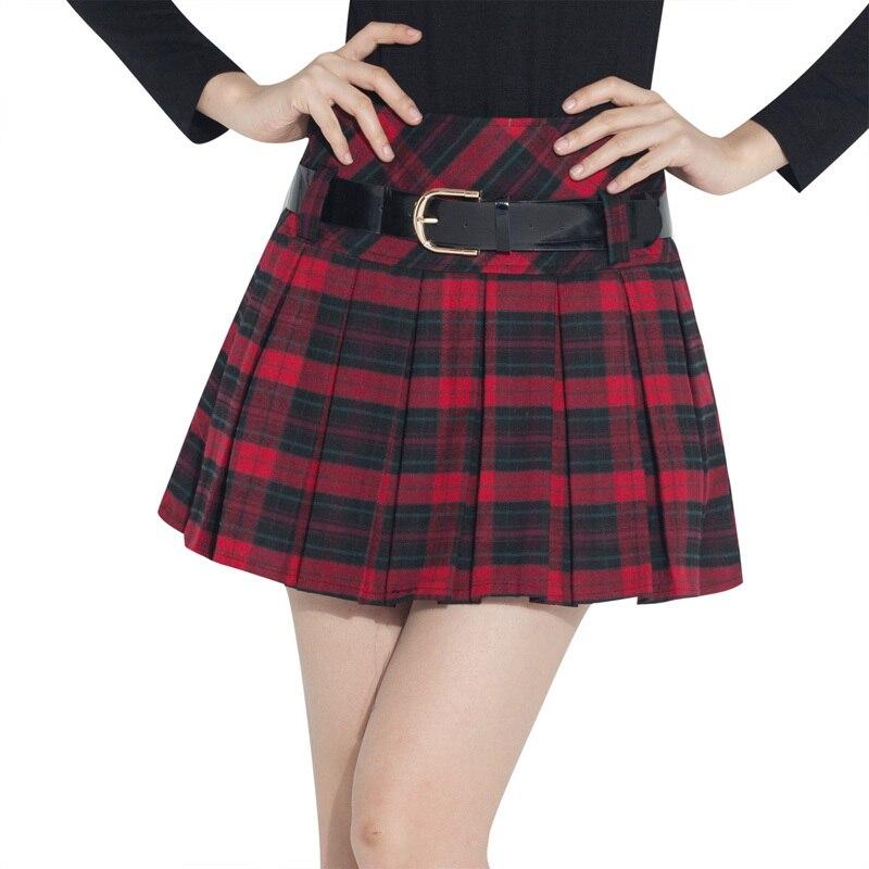 Womens Plaid Mini Skirt