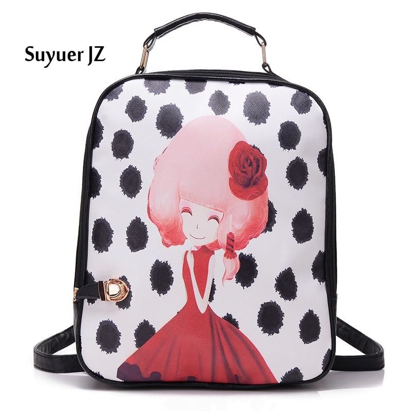 2017 Women s Backpacks PU Travel font b Bags b font Ladies font b School b
