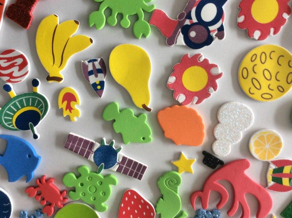 Over 100 PCs children EVA cartoon stickers Kids parent 3D DIY handmade craft scrapbook stickers for