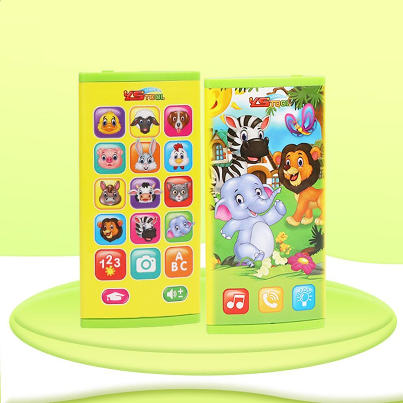 MrY Training Machines Toy Telephone Russian Language Animal Sounds Kids Telephone Educational Musical Telephone For Children