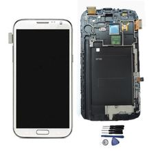 White Grey Lcd Touch Screen For Samsung Galaxy Note 2 N7100 Lcd Screen Display Touch Screen Digitizer Assembly With Frame Tools