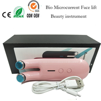 Bio Microcurrent Red Led Light Photon Therapy Skin Rejuvenation Face Lift Up Face Mask Lifting Massager Roller Beauty Device