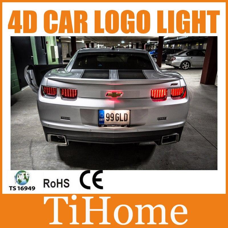 Free Shipping 4D LED Car LOGO Light/Lamp 4D LED car emblem badge light for Chevrolet Camaro