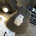 Quente gorro novo estilo gato hedging chapéu hip hop malha acrílico chapéus de inverno para as mulheres homens 8 cores