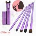 Pro 5 pcs Makeup Brushes Set Cosméticos Delineador Em Pó Foundation Sombra Delineador Lip Kits Make Up Tools Escova Clássico Roxo