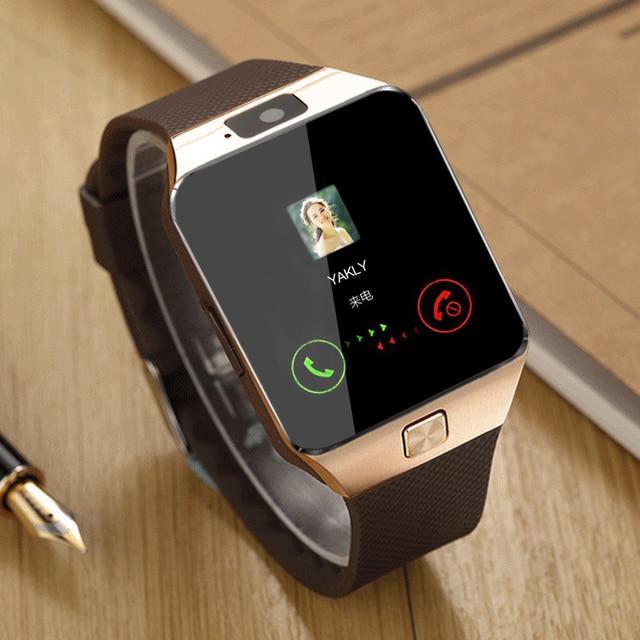 DZ09 Smartwatch akıllı saat Dijital Erkekler İzle Apple iPhone Samsung Için android cep telefonu Bluetooth SIM TF Kart Kamera