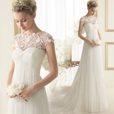 Vestido De Noiva Renda Casamento 2015 Cheap Vintage Wedding Dress Bride Sexy Lace Cap Sleeve New