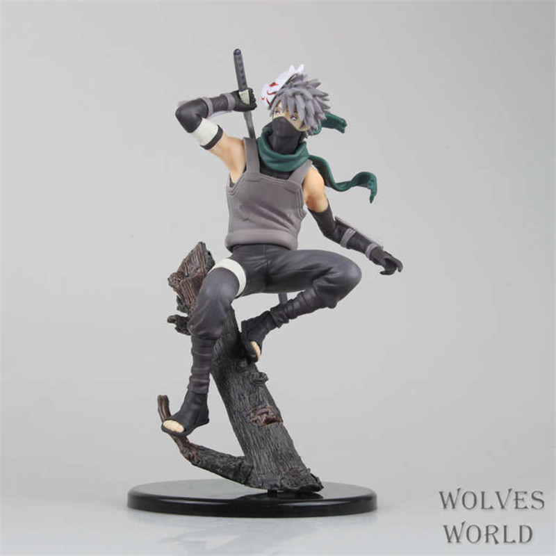 WVW 21CM Hot Sale Anime Heroes Naruto Kakashi Model PVC Toy Action Figure Decoration For Collection Gift Free shipping anime naruto pvc action figure toys q version naruto figurine full set model collection free shipping