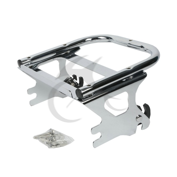 Detachable 2-UP Luggage Rack For Harley Touring Road King Street Glide Electra FLHT FLHX FLTR 97-08 motorcycle chrome luggage rack for harley touring road king street glide cvo road glide street electra glide flhr 2009 2017 16