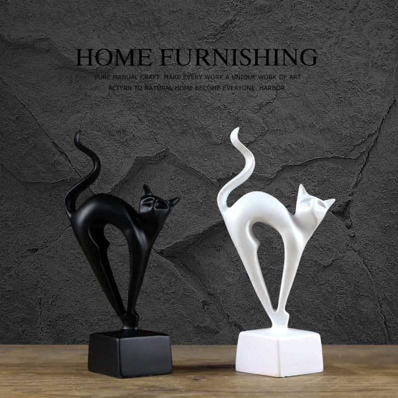 Nordic modern home accessories lucky cat resin ornaments Living room TV cabinet display animal crafts cats FengShui furnishings