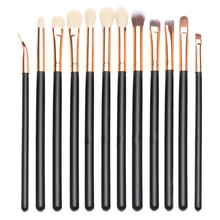 Best Deal New Fashion Pro 12pcs Eye Brush Set Cosmetics Concealer Eyeliner Blending Eyeshadow Brushes