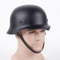 New Arrivals Durable Comfortable Men Army Protective Helmet Stainless Steel with Leather Workplace Safety Supplies Accessories