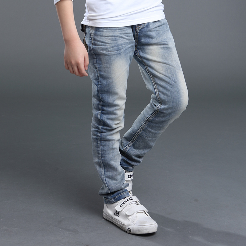 2016 New Spring Autumn Kids Jeans For Boys Fashion Bag Children Trousers Brand High Quality Pants Rc196