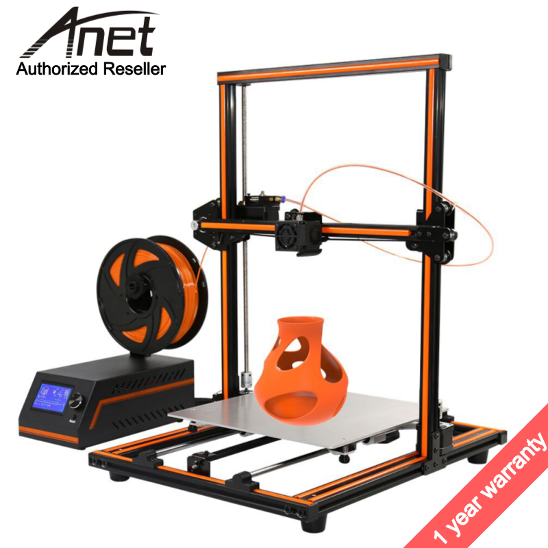 Anet E12 300*300*400MM imprimante 3d printer Update Threaded rod High precision Reprap 3D Printer Kit DIY Large Print Size anet e12 3d printer large printing size high precision update threaded rod reprap i3 3d 3d printer kit with pla abs filament