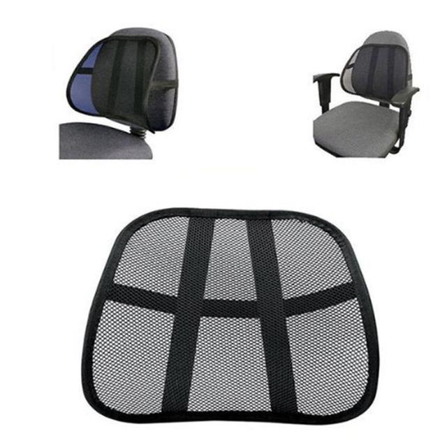 Lumbar Support Office Chair Cushion Laugh N Learn Pillow Mesh Fabric Back Black Brace Home Car Seat Z1211 5up