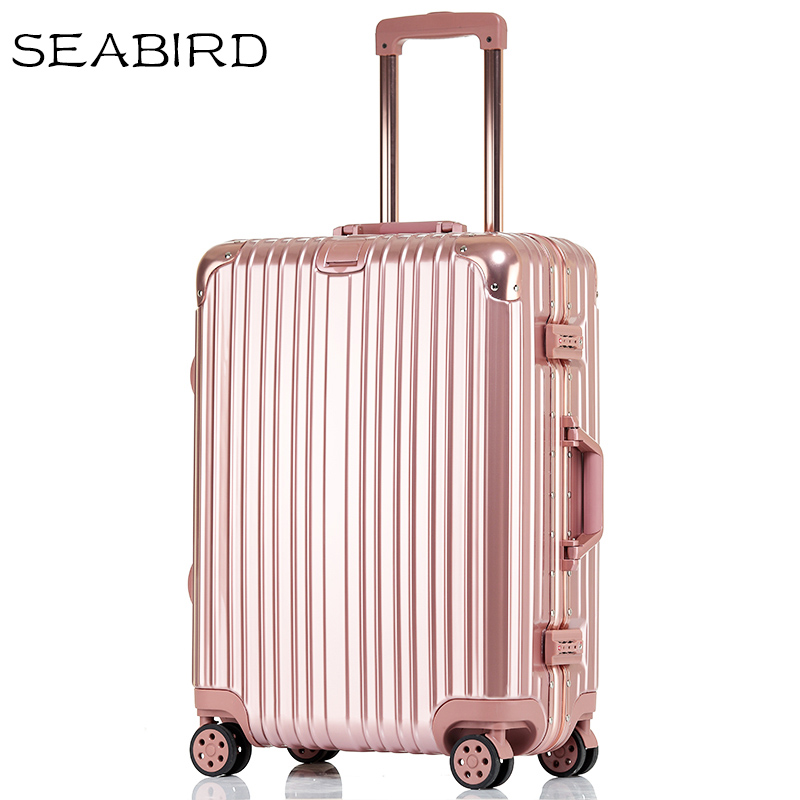 """SEABIRD 20""""22""""24""""26""""29 inch Aluminum frame travel luggage carry on box pull rod suitcase trolley suitcase rolling luggage"""