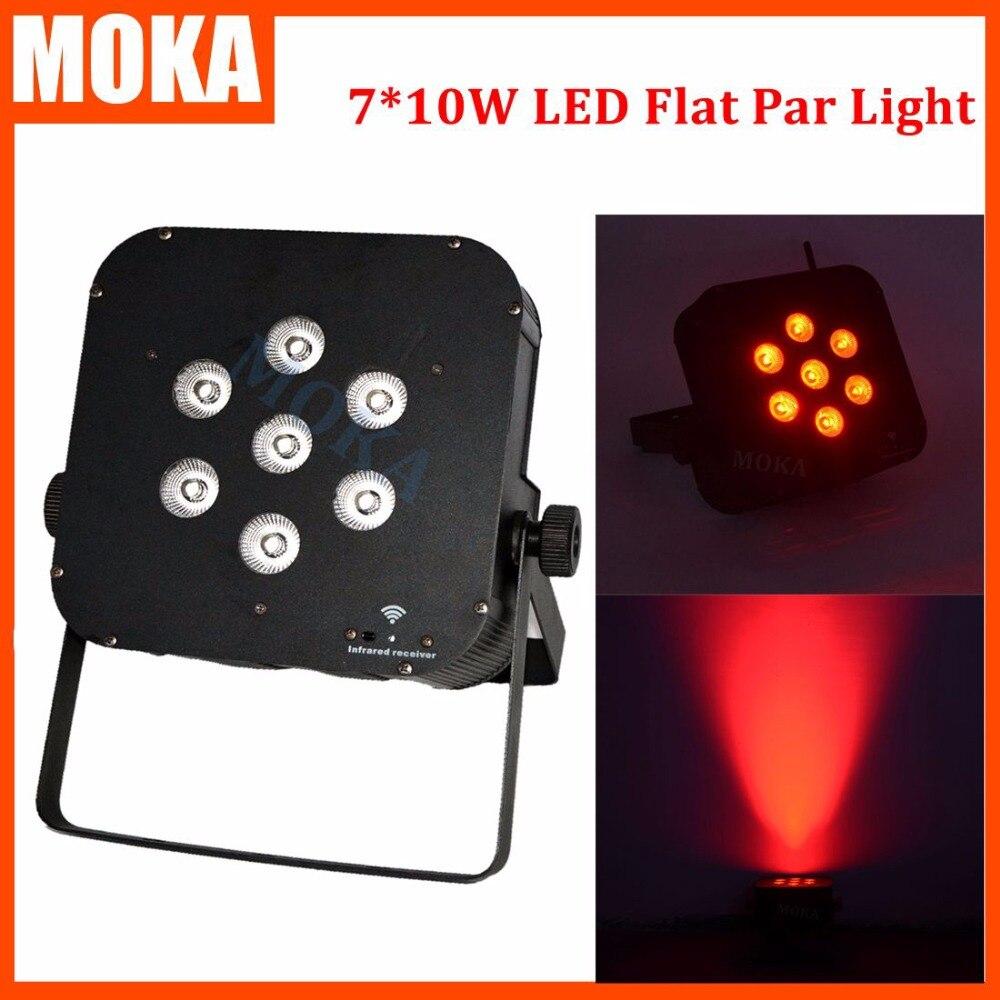 7*10 Вт мини номинальной света 4in1 DMX512 LED Телевизор с номинальной света беспроводной аккумулятор номинальной СВЕТОДИОДНЫЕ RGBW LED эффект света э