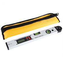 laoa 400mm aluminum 360degree range spirit level vertical flatness test ruler upright inclinometer with magnets protractor ruler 360 Degree Range Level Digital Angle Finder Level Upright Inclinometer with Magnets Protractor Ruler