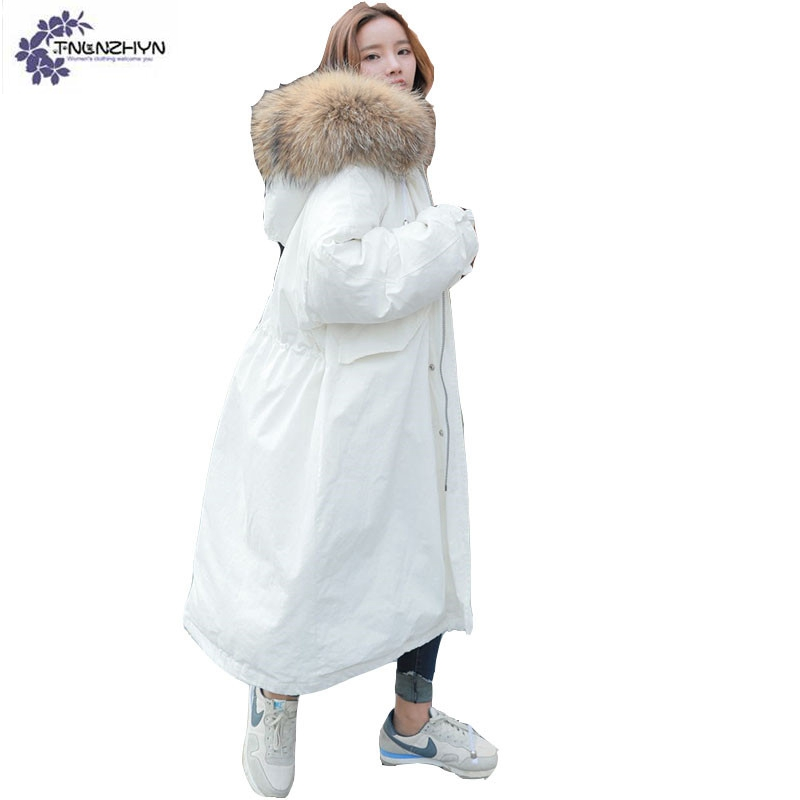 TNLNZHYN winter NEW Women clothing warm Cotton coat high-end loose large size Super long Thicken female Cotton Outerwear QQ393