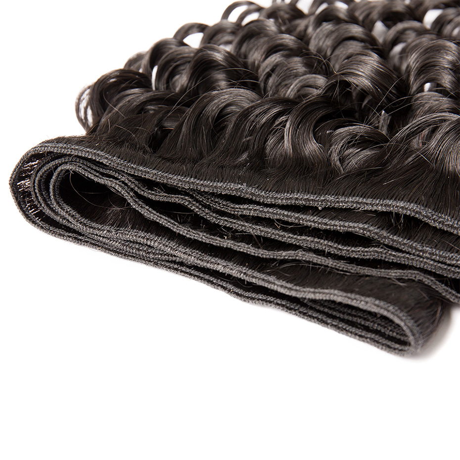 Image 4 - MS Lula Brazilian Deep Wave Bundles Weave 3 PCS/Lot 100% Human Hair Remy Hair Weft Natural Color Hair Extension Free shipping-in 3/4 Bundles from Hair Extensions & Wigs