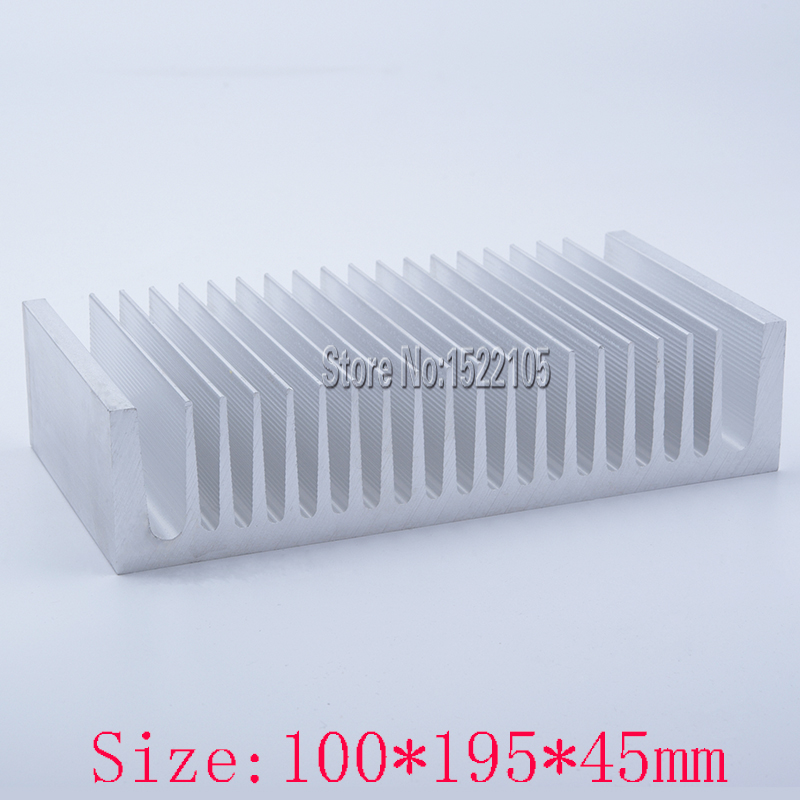 Heatsink 100x195x45mm industrial Aluminum heatsink heat sink high power radiator for cooling 1 pcs aluminum radiator heat sink heatsink 60mm x 60mm x 10mm black