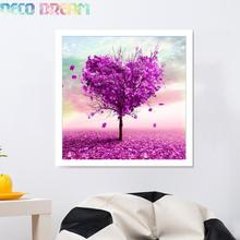 5pcs Aliexpress Value Set Diy Full Resin Round Diamond Painting Cross Stitch Embroidery Kit A Tree Of Purple Love Hobby Mosaic