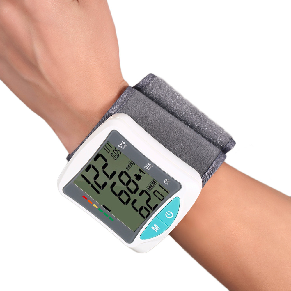 New Health Care Smart Chip Automatic Wrist Digital Blood Pressure Monitor Meter for Measuring And Pressure/Pulse Rate Wrist Arm health care automatic wrist digital blood pressure monitor tonometer meter for measuring and pulse rate black