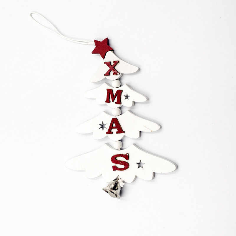 Kayu Natal Ornamen Bintang Kayu Liontin Kerucut Pinus Pohon Natal Jatuhkan Ornamen Xmas Dekorasi Natal Dekorasi untuk Rumah