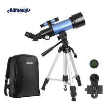 AOMEKIE F40070M Astronomical Telescope with High Tripod Backpack Terrestrial Space Erecting Image Telescope Moon Watching Gift