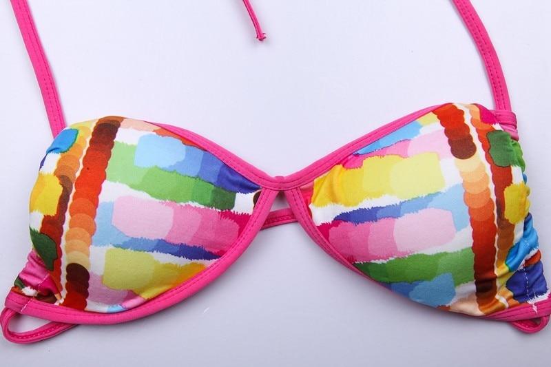 SWIMMART זכויות יוצרים עיצוב של נשים סקסי בגדי ים ביקיני 2016 ריפוד נשלף באופן מלא מרופד Brasileiro Biquini דה franja ס. מ. ל. ש. ל.