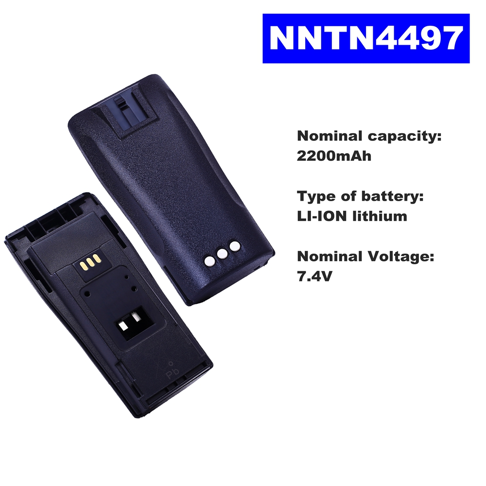 7.4V 2200mAh LI-ION Radio Battery NNTN4497 For Motorola Walkie Talkie CP140/040/380 EP150/450 DP1400/3688 GP3688Two Way Radio