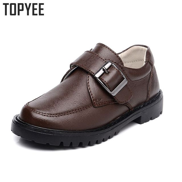 2016 New Children Boys Leather Shoes For Kids Boys Genuine Leather