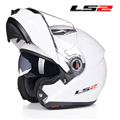 2016 nueva aarrive cascos filp encima motocicleta motocross cascos LS2 cascos lente doble casco Capacete 100% genuino LS2 ff370