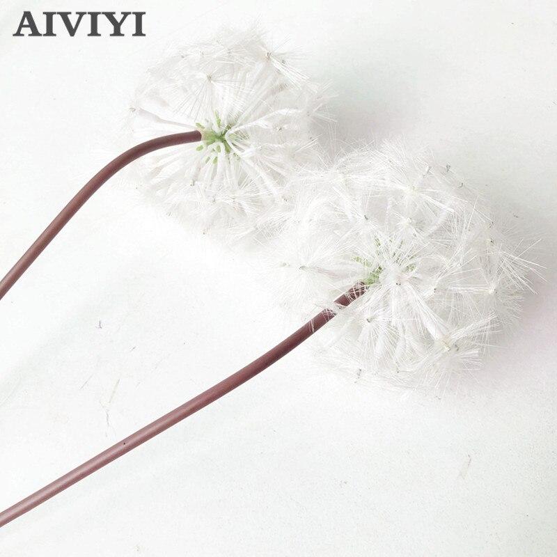 Comércio exterior excelente produto 66cm branco dandelion artificial flor decoração de natal casa arranjo casamento diy decorat