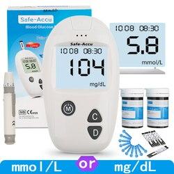 هددت جهاز قياس السكر بالدم و شرائط الاختبار و المشارط 50/100 قطعة غلوكمتر عدة السكري السكر في الدم متر السكري اختبار