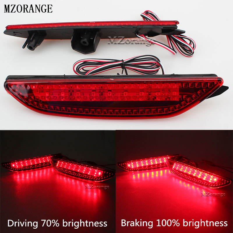 MZORANGE Car Rear Bumper Reflector for Kia Rio K2 Sedan 2011-2013 Park Brake lights Tail LED Warning Lights Car Accessories Lamp free shipping tail light parking warning rear bumper reflector for kia k2 car styling