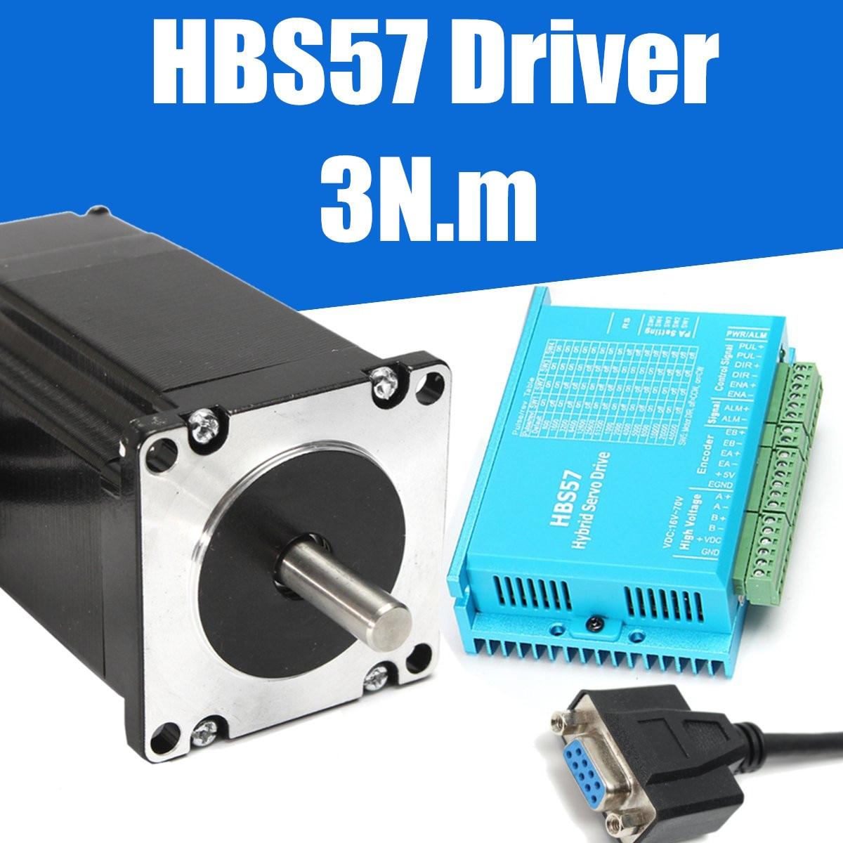 CNC HBS57 Гибридный сервопривод шагового двигателя 3N. m момент 57HSE2N-D25 замкнутый контур
