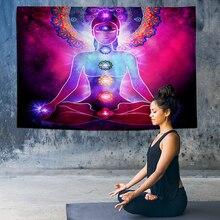 Wall Art Chakra Tapestry Wall Hanging Indian Hippie Mandala Tapestry Psychedelic Tapestries Galaxy Decor Yoga Rugs Wall Cloth wall hanging art decor galaxy print tapestry