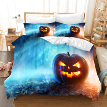 Halloween Cartoon 3d bedding set Duvet Covers Pillowcases pumpkin head Christmas comforter sets bedclothes bed linen