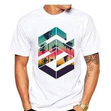 c9f15256b292 2019 Newest Summer Fashion Geometric Sunset beach Design T Shirt Men s Cool  Design High Quality Tops Custom Hipster Tees